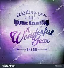 happy new year greetings quote vector stock image now
