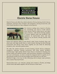 Electric Horse Fences Pages 1 3 Text Version Fliphtml5