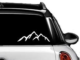 Amazon Com Mountains Silhouette 3x8 Car Truck Laptop White Vinyl Decal Automotive
