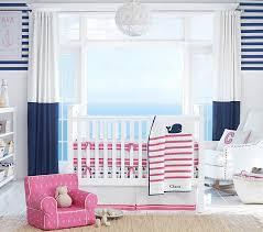 hamptons whale crib bedding set