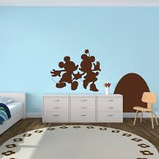 Mickey And Minnie Mouse Wall Decal Kids Bedroom Wall Decor Stickers Modern Wall Art Trendy Wall Designs