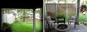 outdoor areas with privacy screens