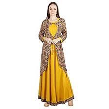 Buy Myra Long Yellow with Jacket Kurti at Amazon.in