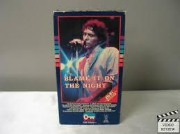 Blame It on the Night (VHS) Nick Mancuso Byron Thames 86162672637 ...