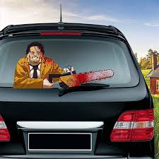 2020 Car Rear Window Wiper Sticker Halloween Horror Waving Decals Car Styling Rear Windshield Wiper Stickers Car Styling Decoration From Blake Online 4 04 Dhgate Com