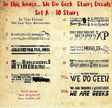 We Do Geek Stairs Vinyl Decal In This House Home Decor Decals Jessichu Creations