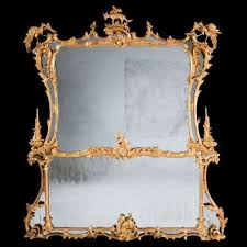 chippendale giltwood overmantel mirror