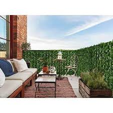 Acurite 94 5x59 Outdoor Artificial Hedge Privacy Fence And Faux Ivy Vine Leaf Decoration