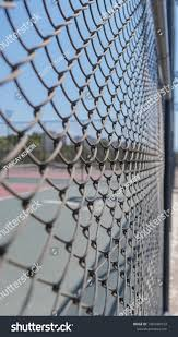 Fence Wire Stretches Away Closely Stock Photo Edit Now 1481689193
