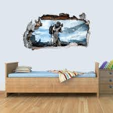 Gng Starwars Storm Trooper Smashed Wall Decal Poster 3d Art Stickers V