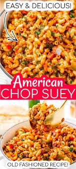 easy american chop suey recipe sugar