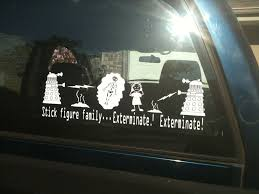 Exterminate Your Stick Figure Family Robot Attack Vinyl Etsy Stick Figure Family Doctor Who Dalek Dalek