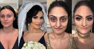 these bridal makeup before and after
