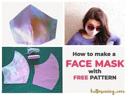 face mask pattern free how to make