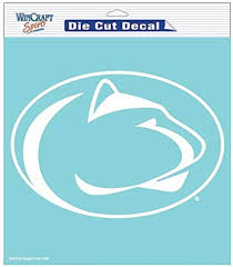 Amazon Com Penn State Nittany Lions Ncaa Vinyl Die Cut Window Decal Auto Car Logo White 8x8 Sticker College Licensed Team Logo Sports Outdoors