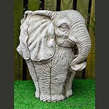 pot hand cast stone garden ornament