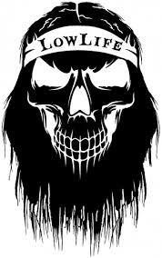 Beard Skull Lowlife Car Or Truck Window Decal Sticker Rad Dezigns
