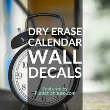 Calendar Wall Decals Get Organized The Easy Way