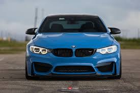 bmw m4 coupe cars blue vossen wheels
