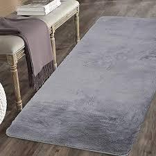 runner rug 2x4 4 light grey ultra soft