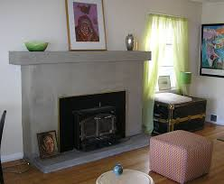 fireplace from brick to concrete