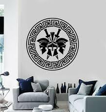 Vinyl Wall Decal Spartan Soldiers Warriors Helmet Swords Stickers Mural G2214 Ebay