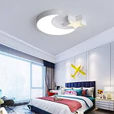 Childrens Room Ceiling Lamp Led Creative Personality Nursery Ceiling Lights White Light Pink Hollow Moon Stars Male And Female Room Lighting Color A Brigs Com