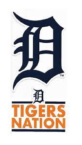 Rico Detroit Tigers Double Up Die Cut Vinyl Stickers