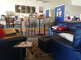 Comfy leather sofas - Picture of Wesley Owens Coffee, Monument - Tripadvisor
