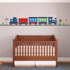Freight Car Train Wall Decal W Railroad Track Straight Right Etsy Wall Decals Boys Wall Decals Childrens Bedroom Decor