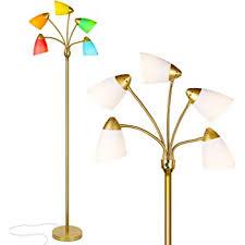 Brightech Medusa Led Floor Lamp Multi Head Adjustable Tall Pole Standing Reading Lamp For Living Room