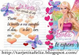 Tarjetas De Cumpleanos Para Imprimir Invitacion De La Barbie