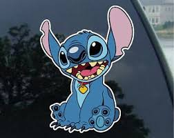 Stitch Car Decal Etsy