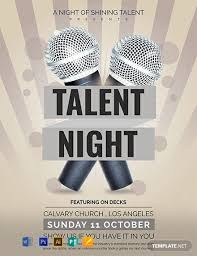 talent show flyer template word doc