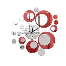 China Diy Removable Round Modern Acrylic Mirror Surface 3d Simple Wall Clock Stickers China Wall Clock Stickers And 3d Wall Clock Stickers Price
