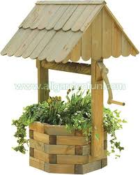 wishing well made from landscape