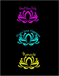 Lotus Flower Decal Good Vibes Decal Namaste Decal Peace Love Happiness Decal Car Decal Boho Decal Window Lap Computer Decal Peace And Love Peace Love Happiness