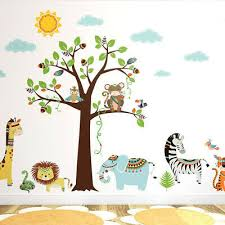 Tribal Animals Wall Decal Jungle Wall Decal Safari Wall Decal Sticker Ebay