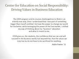Center for Education on Social Responsibility (CESR) Introduction