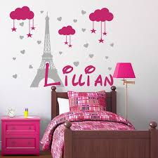 Girl Name Wall Decal Kids Room Decor France Decal Paris Etsy