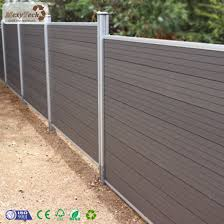 China Aluminum Post Design Wood Plastic Composite Wpc Waterproof Fencing Privacy Fence For Yard Using China Fencing For Villa Garden Fence