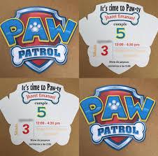 Paw Patrol Logo Invitations Invitaciones De Paw Patrol Fiesta