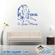 Cecil The Lion In Loving Memory Car Window Decal Sticker