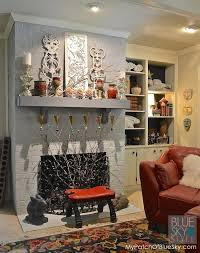 brick fireplace fusion mineral paint