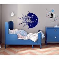Shop The Sun Moon Sky Stars Wall Art Sticker Decal Blue Overstock 11921384