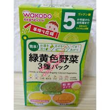 Bột ăn dặm Wakodo Nhật Bản cho bé từ 5 tháng tuổi 5m+ (HSD10/ 2021)