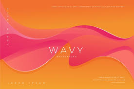 abstract wallpaper with wavy colorful