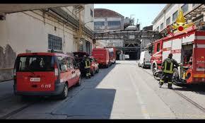 Principio incendio in fonderia Marghera - La Sicilia