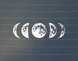 Decal Moon Phase Car Decal Lunar Cycle Moon Cycle Moon Sticker Crescent Moon Decal Full Moon Car Decal New Moon L Nature Decal Lunar Cycle Moon Decal