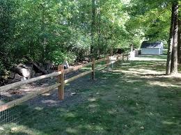 Split Rail Sadler Fence And Staining